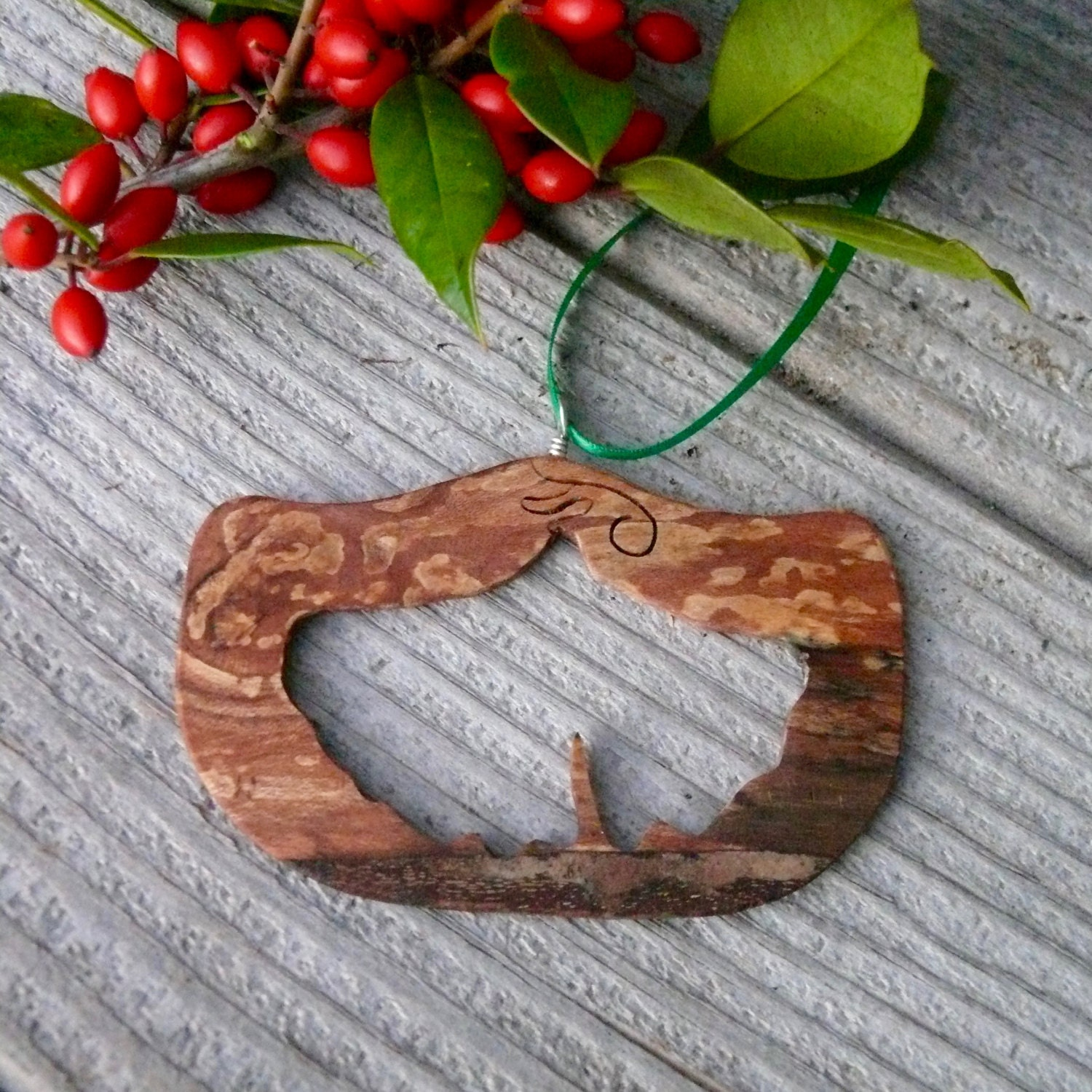country christmas ornaments natural wood christmas ornaments gingko leaf ornament eco christmas nature christmas ornaments - Country Christmas Ornaments
