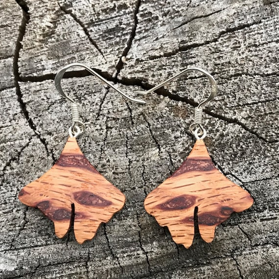 Small Ginkgo Earrings with Sterling Ear wires