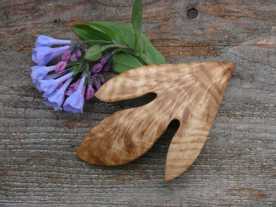 Oak Leaf hair Clip, Oak Leaf Barrette