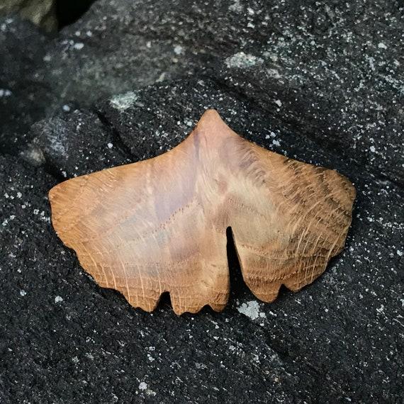 Ginkgo Leaf Hair Clip, 50mm French Clasp