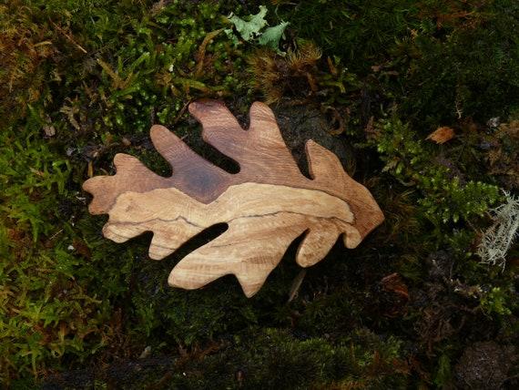 Oak Leaf hair Clip, Oak Leaf Barrette