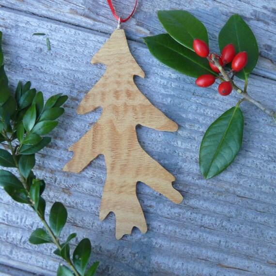 Nature Christmas Ornaments. Natural holiday decor, Wooden Decorations, Oak leaf natural wood ornament, Rustic wood Holiday decor, Eco Xmas