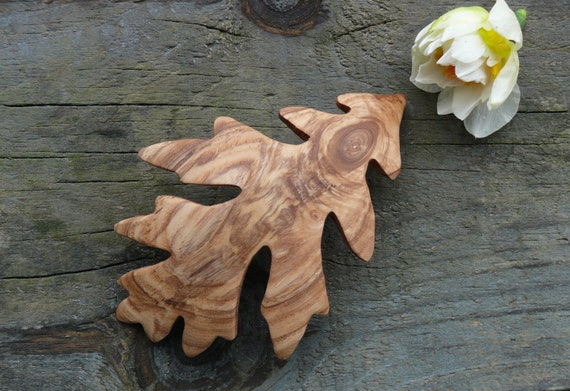 Oak Leaf Hair Clip, 90mm French Clasp