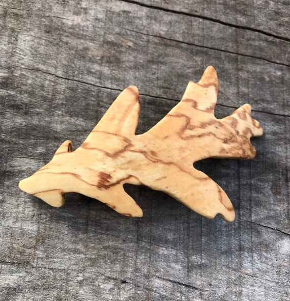 Oak Leaf hair clip barrette, Oak Leaf jewelry, Hair pin, Hair bow, Nature Lover gift, Unique gift for her, 80mm French barrette Clasp