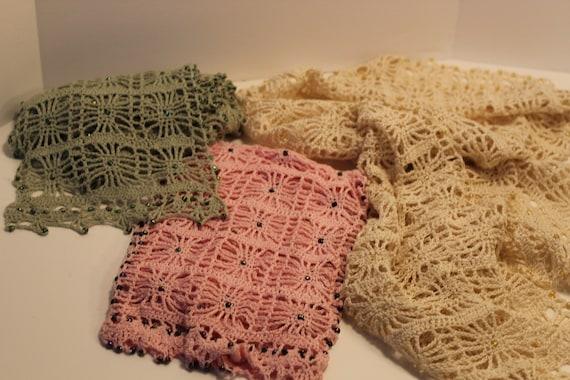 Crochet Scarves Beaded