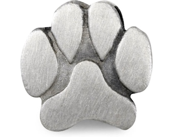 Slide-On Paw Print Charm for Molly Pet Memorial Photo Charm Bracelet - Add Extra Paw Print Charm