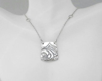 Fine Silver Pendant Necklace
