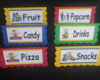 Caillou Table Tent Cards