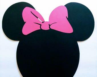 Minnie Mouse Zebra Print Centerpiece Minnie Mouse Birthday