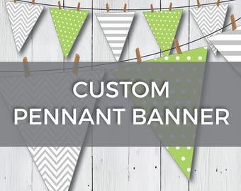 custom pennant banner etsy