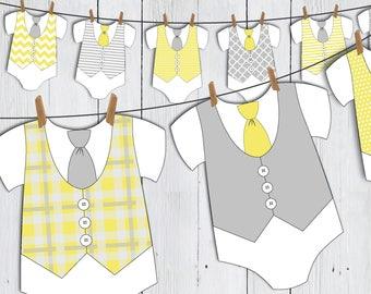 Baby Onesie and Dress Templates Baby Shower Onesie Banner ...