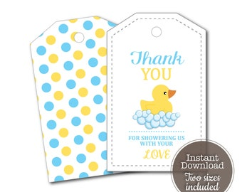 Duck Cutout Duck Favor Tags 2 Baby Shower Favor Tags Baby Shower Decorations Baby Shower Pregnancy Announcement Baby Shower Favors
