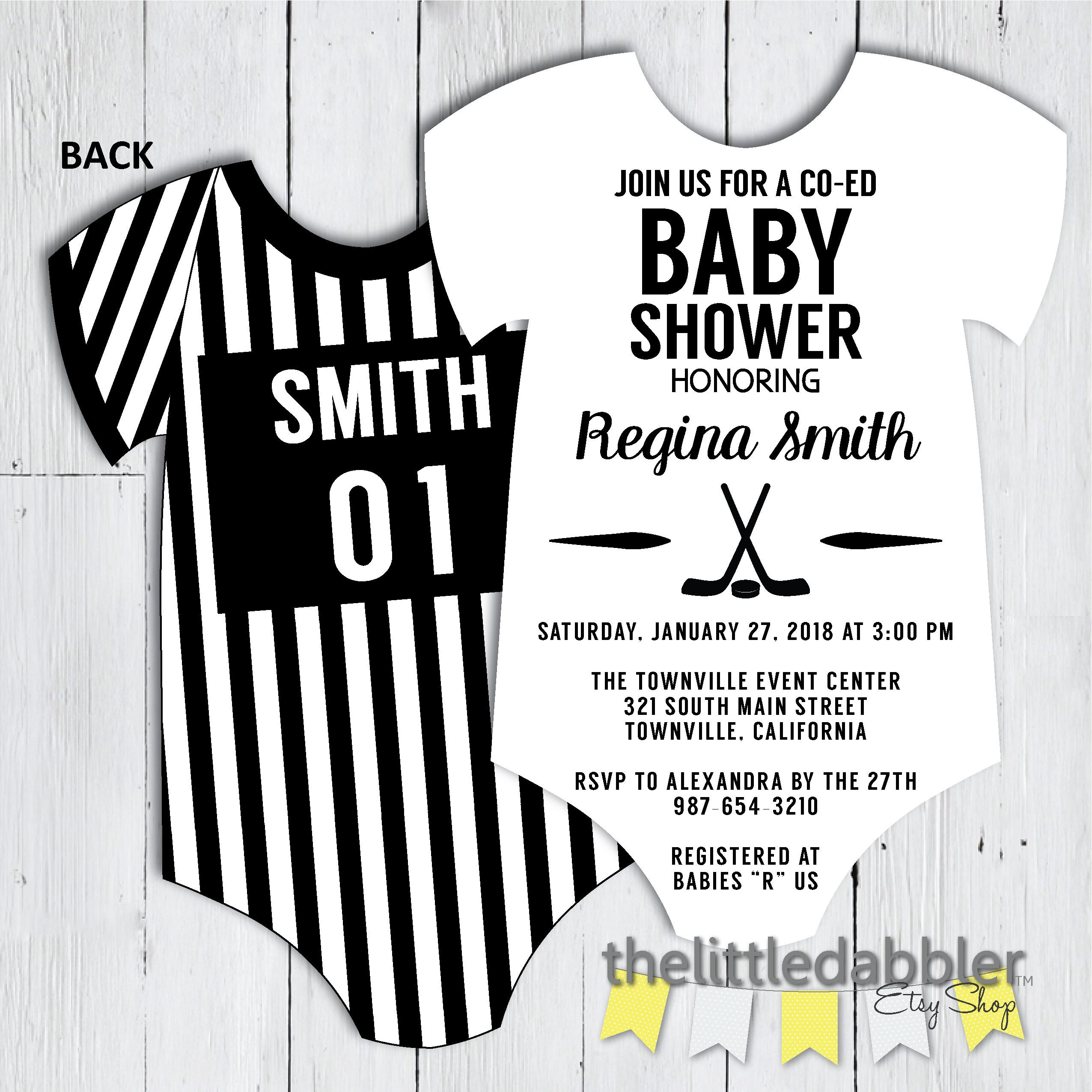 It is a graphic of Printable Onesie Baby Shower Invitations inside personalized
