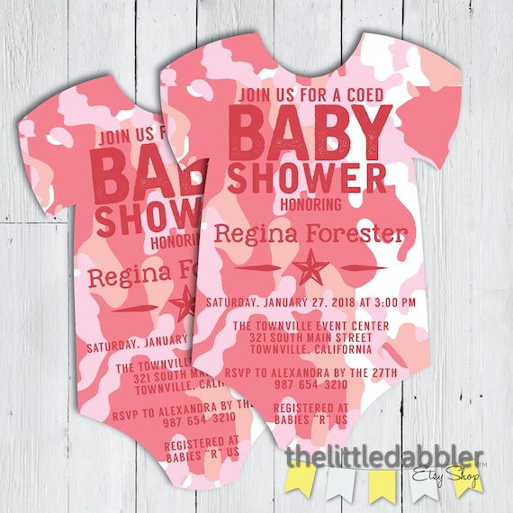 photo regarding Printable Onesie Baby Shower Invitations named Printable Red Camo Onesie Boy or girl Shower Invitation -- Navy Navy Camouflage Pet dog Tag Kid Romper Invitation -- PNG JPG