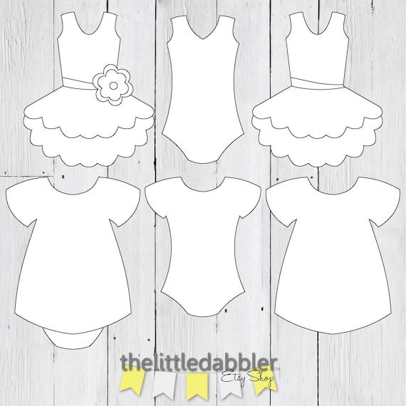 Dress And Tutu Templates Baby Shower Girl Onesie Dress Banner Templates Tutu Clip Art Tulle Tutu Bodysuit 300 Dpi Png Svg