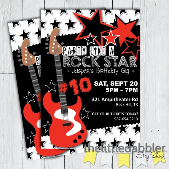 Verjaardag Rock.Partij Als Een Rock Star Verjaardag Uitnodiging Red Black Guitar Rock En Roll Muziek Verjaardag Gig Png Jpg