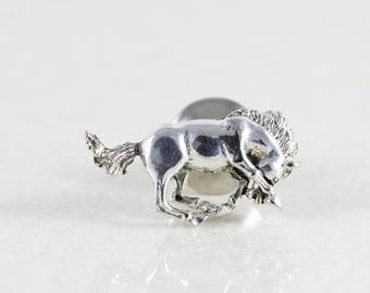 Sterling Silver Horse Pin Tie Tack Lapel Pin