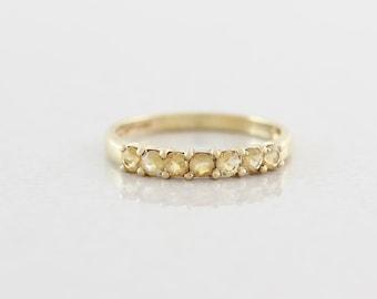 10k Yellow Gold Natural Citrine Band Ring Size 7