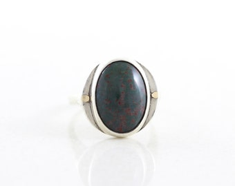 Sterling Silver Bloodstone Ring size 7