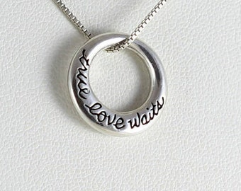 Sterling Silver True Love Waits Necklace