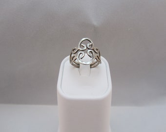 Sterling Silver Filigree Ring Size 6 1/4