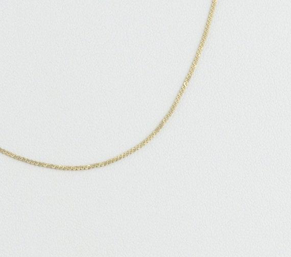 14K Yellow Gold Dainty Herringbone Chain Necklace