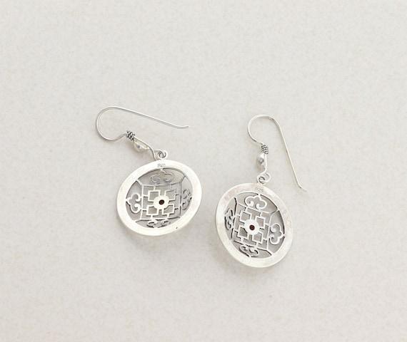 Sterling Silver Garnet Earrings Dangle Drop Earri… - image 7