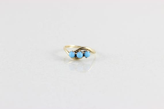 14k Yellow Gold Turquoise Ring Antique Ring Victor