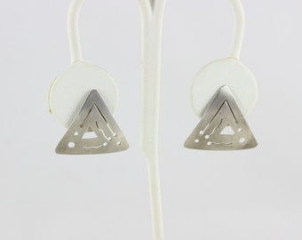 Poste boucles d'oreilles Triangle en argent sterling