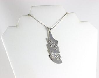 Large Sterling Silver Modernist Pendant