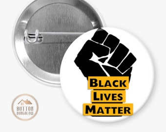 """Black Lives Matter   BLM Solidarity Fist   1.25"""" or 2.25"""" Pinback Button or 2.25"""" Magnet"""