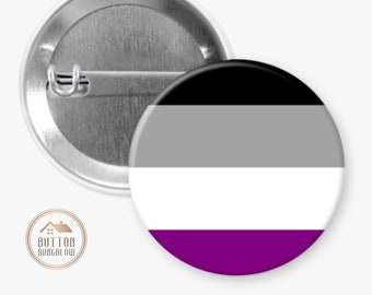 """Asexual Pride Flag   Gender Identity And Expression   1.25"""" Pinback Button"""