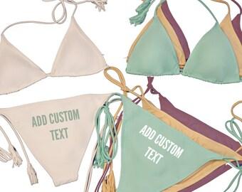 a0d2b1ee2f Personalized Bikini Set - Side Tie Bottom