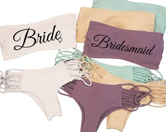fffe1d98b6b88 Bride Bikini Set - Strappy Swimsuit Bottom