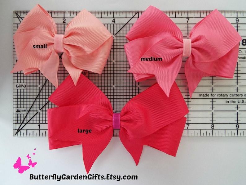 Maroon satin or grosgrain tail down boutique hair bow clip