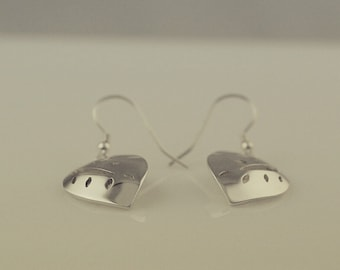 Leaf Drop Earrings in Sterling Silver