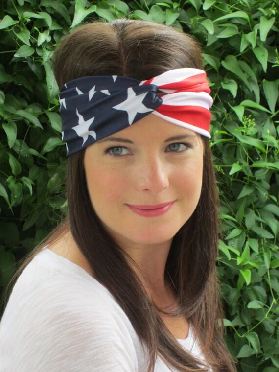 Fourth of July Headband Patriotic Turban Headband American  92b1ad3a0d7