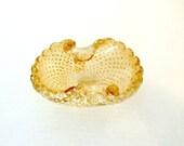 Mid Century Ashtray Murano Italian Art Glass Candy Dish
