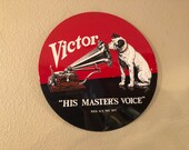 LARGE RCA Victor Nipper Embossed Diecut Sign 14 Inch USA Made Ande Rooney