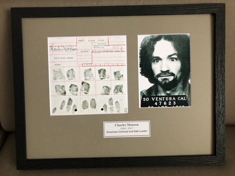 CRIMINAL ODDITY: Charles Manson Arrest  Thumbprints Sheet and image 0