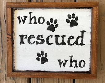 Who Rescued Who Etsy