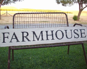 Large Farmhouse Sign / Rustic Wood Sign / Farmhouse Decor / Custom / Kitchen Wall Decor