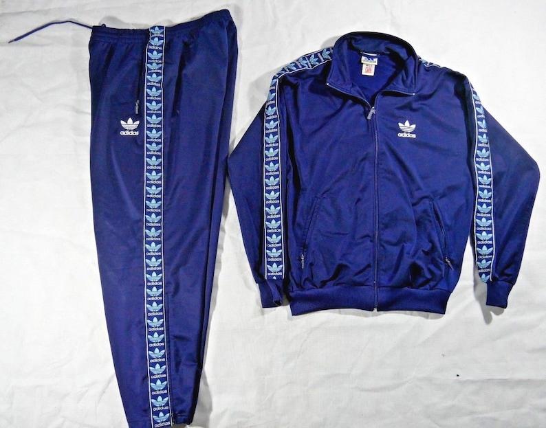 7879b7aaca3 Vintage Adidas Trefoil logo Tracksuit Jacket Pants Size