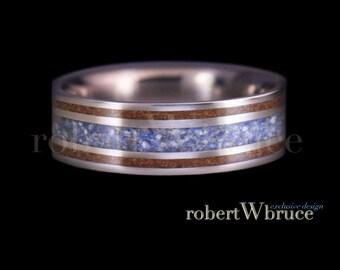 Titanium Ring  Dinosaur Bone Ring Meteorite Ring Wedding Band Megalodon Tooth Ring Exclusive robert W bruce Specimen Ring