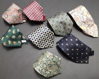 Lot Of 8 JIM THOMPSON Men's Silk Necktie Mixed Pattern Made in Thailand