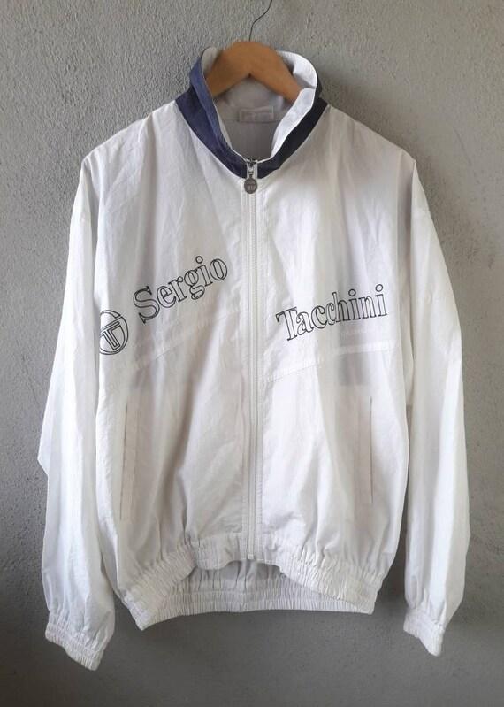 f4a53472f61 Vintage SERGIO TACCHINI Windbreaker Zipper Jacket 20 80