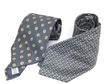 Lot 2 JIM THOMPSON Vintage Designer Men's Silk Necktie Made in Thailand