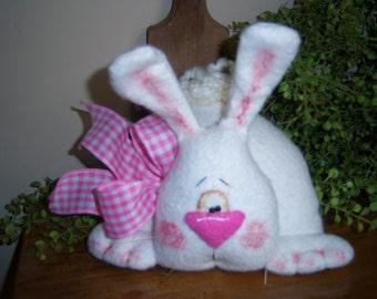 Primitive Folk Art Easter Rabbit Bunny Shelf Sitter Ornie Tuck Downloadable PDF EPattern