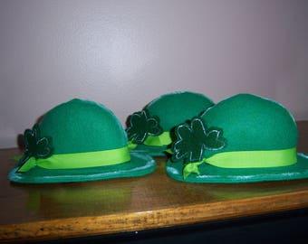 Primitive Folk Art St. Patrick's Day Leprechaun Derby Hat Shelf Sitter Ornie Tuck Downloadable PDF EPattern