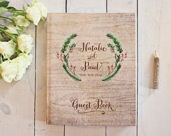 Winter Wedding Guest Book Rustic Wedding Guest Book Bridal Shower Gift for the Couple Winter Guest Book Photo Guest Book Photo Guest Book